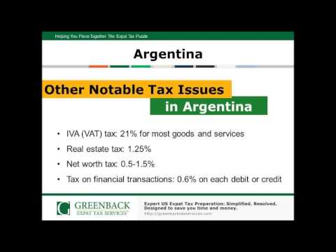 Top Expat Tax Tips for Americans Living in Argentina