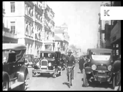 1930s South Africa, Johannesburg, Street Scenes, Rare Archive Footage