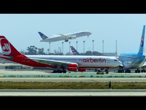 LOS ANGELES LAX AIRPORT Planespotting: A380, 747-400, 777, A330, 787, A320neo & more!