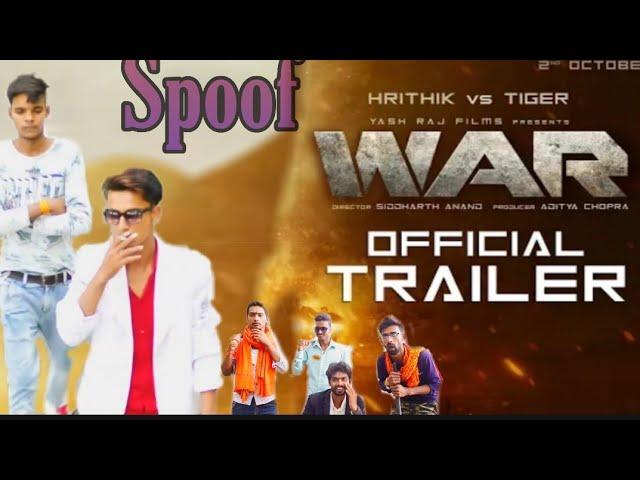 War | Trailer | Hrithik Roshan | Tiger Shroff | Vaani Kapoor | spoof  trailer comedy spoof