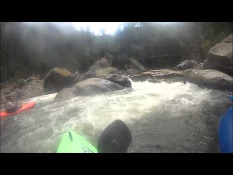 Middle & Lower Narrows on the Poudre, Low flow (1.3ft)