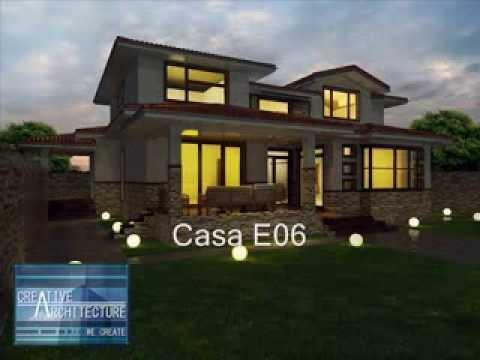Model proiect casa cu etaj casa e06 creative for Arhitectura case cu mansarda