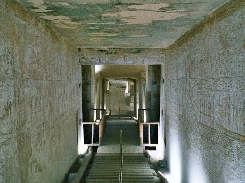 11500 BC - historic reconstruction of the ancients Egypt Valley of the Kings Thutmosis III tomb KV34