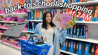 back to school supplies shopping at 2AM + giveaway 2020