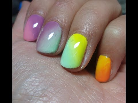 Easter Acrylic Paint Gradient Nail art 2019
