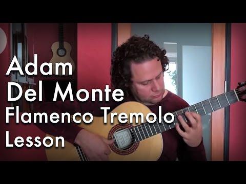 Adam Del Monte - Flamenco Tremolo Lesson: Flamenco Guitar at Guitar Salon International