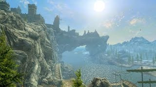 Skyrim Special Edition - All Cities with NEW Graphics - Skyrim PS4 Footage