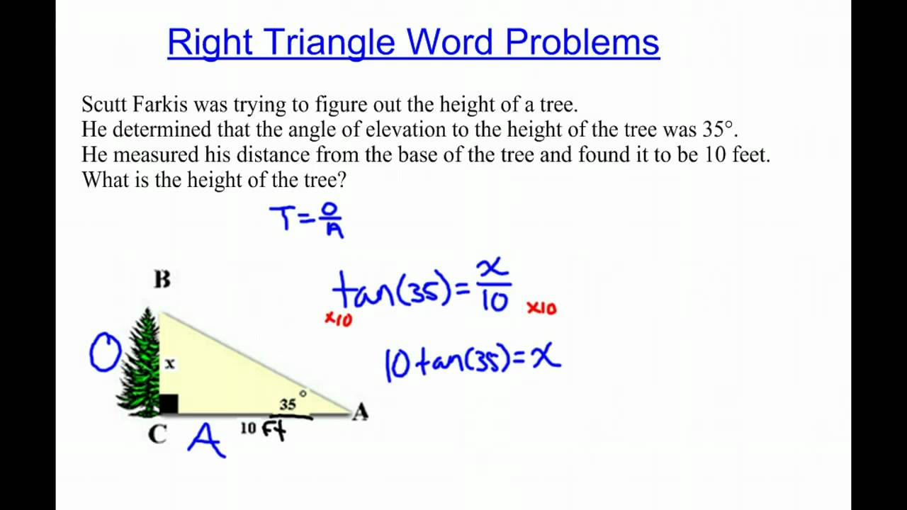 Right Triangle Word Problems multiply YouTube – Right Triangle Trigonometry Word Problems Worksheet