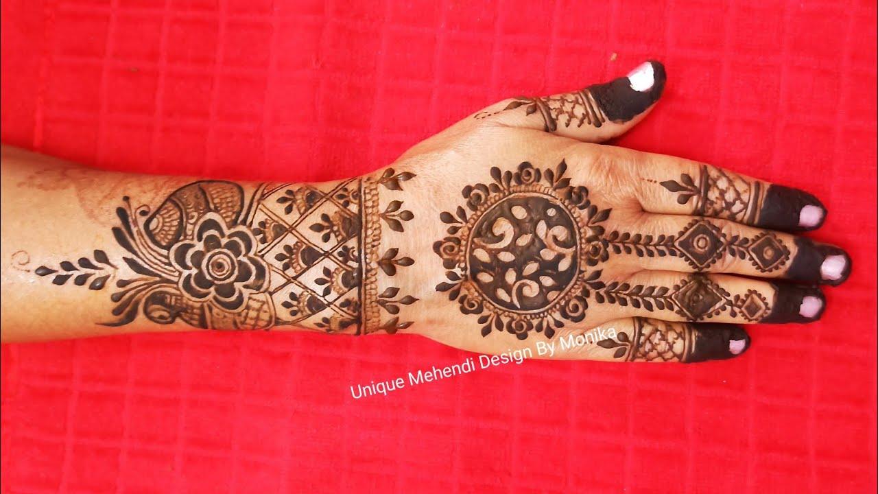 Easy Back Hand Mehndi Design ! Mehandi Design For Hands !
