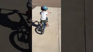Brekken---Strider to bike with no training wheels!