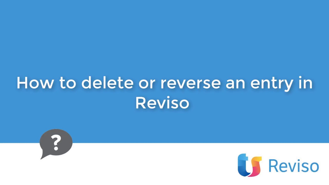 Download How to delete or reverse an entry in Reviso