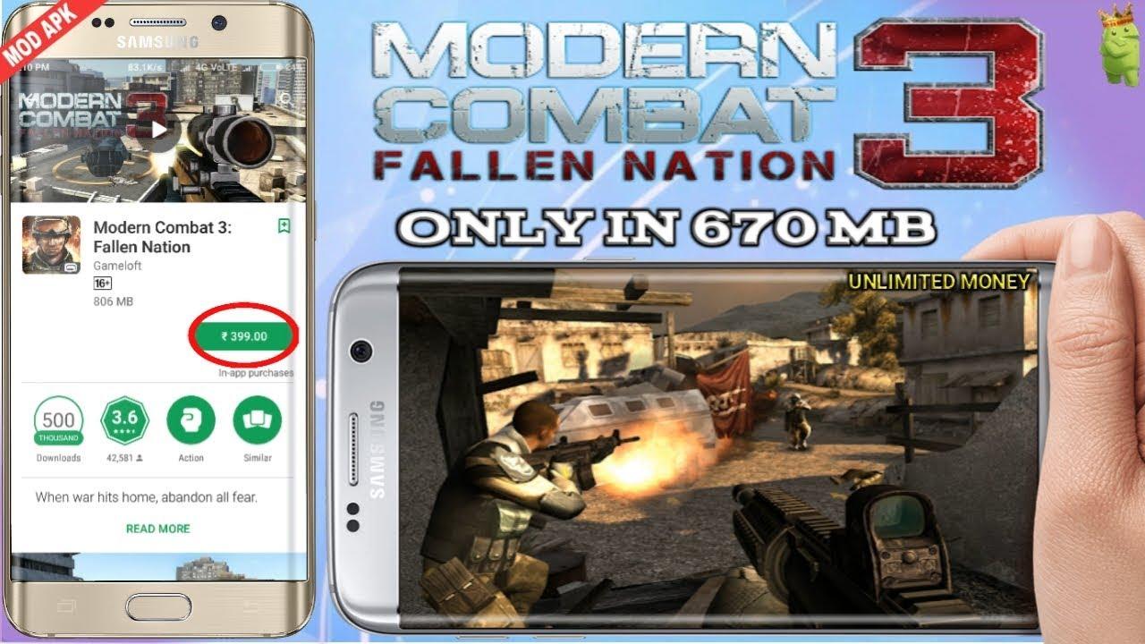 MODERN COMBAT 3 FALLEN NATION (MOD)