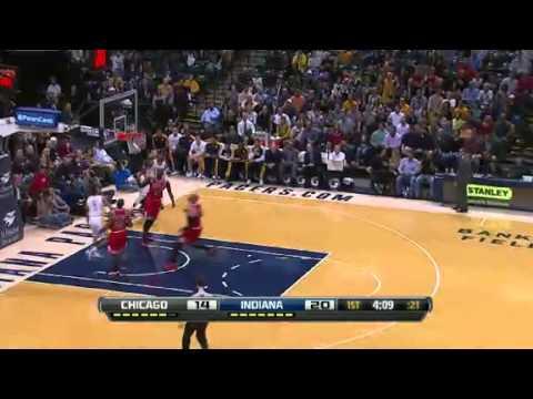 Assist of the Night - Paul George | Bulls vs Pacers  | NBA 2012-13 Season 04/02/2013