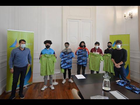 Andreotti recibió a tenistas de los Juegos Bonaerenses