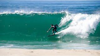 Surfing INSANE Shorebreak In San Diego