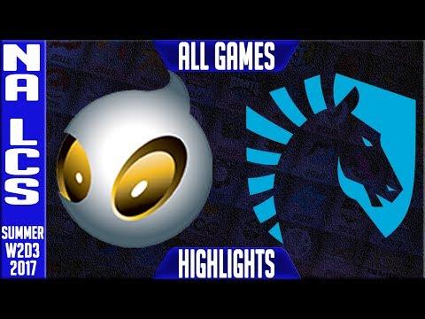Dignitas vs Team Liquid Highlights ALL GAMES | NA LCS Week 2 Day 3 Summer 2017 | DIG vs TL