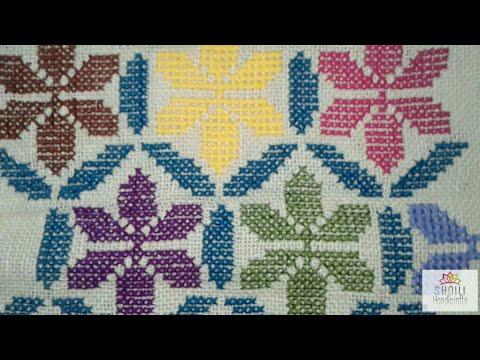Overall cross stitch design || Cross stitch design for purse bag
