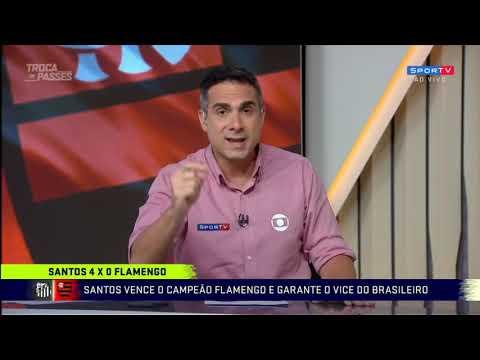 PÓS JOGO SANTOS 4 X 0 FLAMENGO   ANÁLISES E MELHORES MOMENTOS COMPLETO   BRASILEIRÃO 08122019