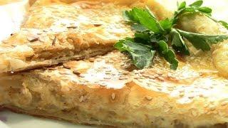 Сырный пирог.Слоеный пирог с сыром.