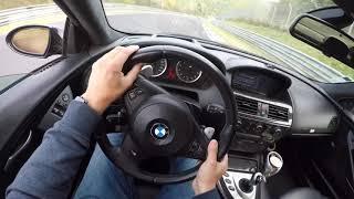 Nürburgring crash on board Bmw M6 v10 200 km/h! (Slide on oil patch)At 3:10