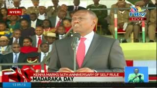 Deputy president William Ruto addresses the Nation on Madaraka Day