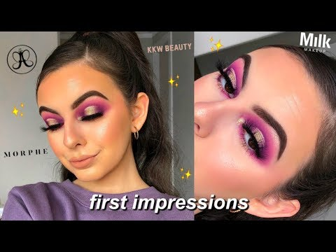 FULL FACE OF FIRST IMPRESSIONS! | ft. ABH X Jackie Aina Palette! thumbnail