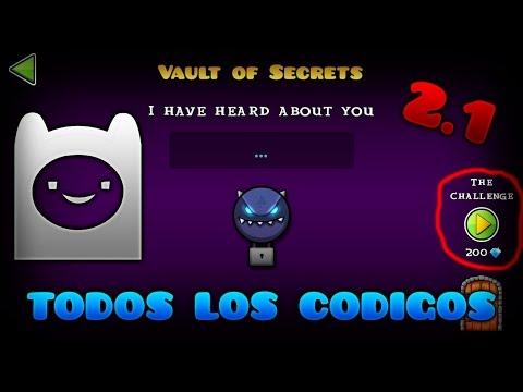 Todos los codigos del vault of secrets geometry dash for Vault of secrets
