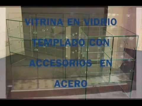 Vitrinas en vidrio youtube - Vitrinas empotradas en pared ...