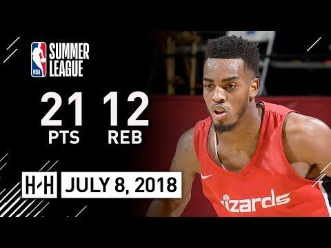 Troy Brown Jr. Full Highlights vs Spurs (2018.07.08) Summer League - 21 Pts, 12 Reb