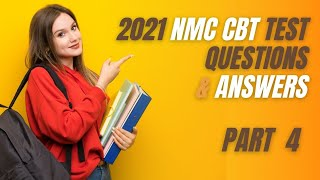 2021 NMC CBT PART-4 Mock Test Nursing (76-100) for UK & Ireland Sample Questions and Answers