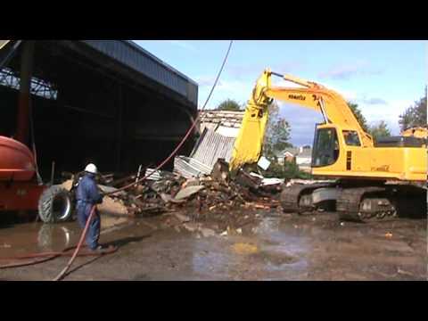 Video Demolition Project - Komatsu Excavators Wrecking