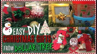 6 DIY CHRISTMAS GIFT IDEAS FROM DOLLAR TREE | SMALL+EASY GIFT IDEAS | CHRISTMAS 2017