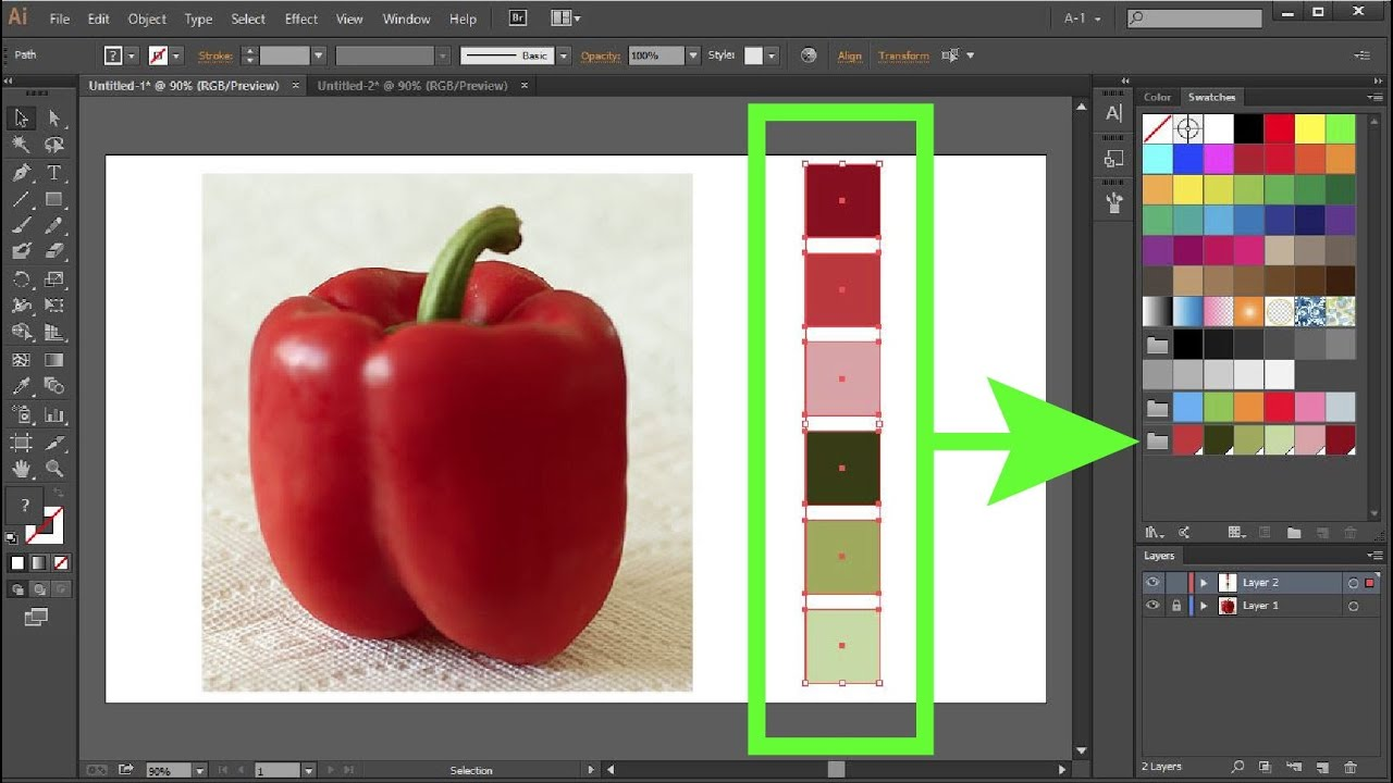 How to Create Custom Color Swatches in Adobe Illustrator  YouTube