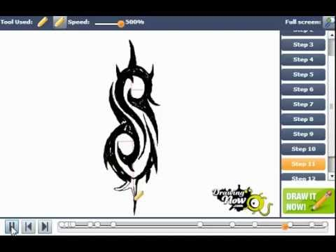 How to draw slipknot s logo youtube voltagebd Image collections
