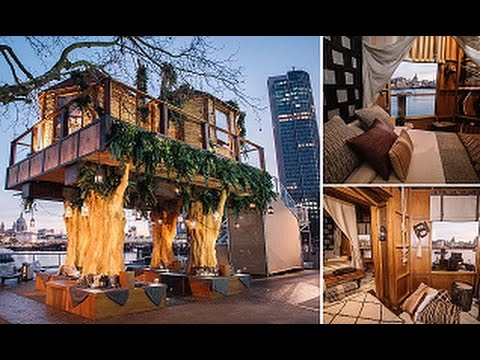 Luxurious tree house Eco Luxury Treehouse With Twobedrooms Private Balcony And Personal Chef Unveiled In Central London Youtube Luxury Treehouse With Twobedrooms Private Balcony And Personal