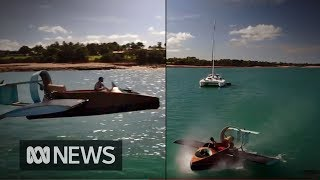 Darwin man stuns locals with a hovercraft built in his carport | ABC News