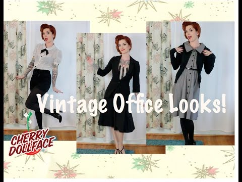 Vintage & Rockabilly Inspired Work Looks! by CHERRY DOLLFACE