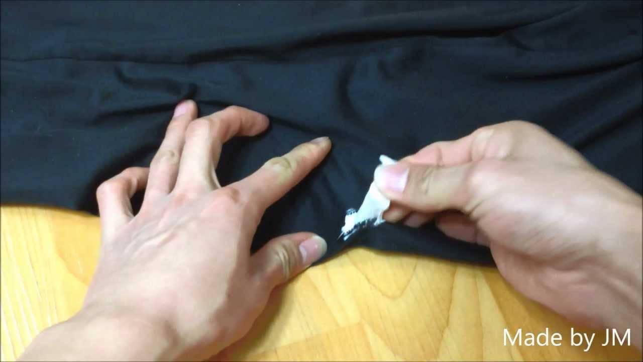 How to remove the gum from clothes with an iron, hair dryer, ice 28