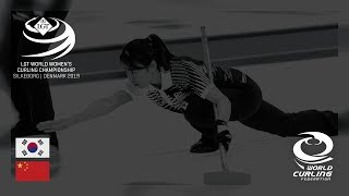 Korea v China - round robin - LGT World Women's Curling Championships 2019