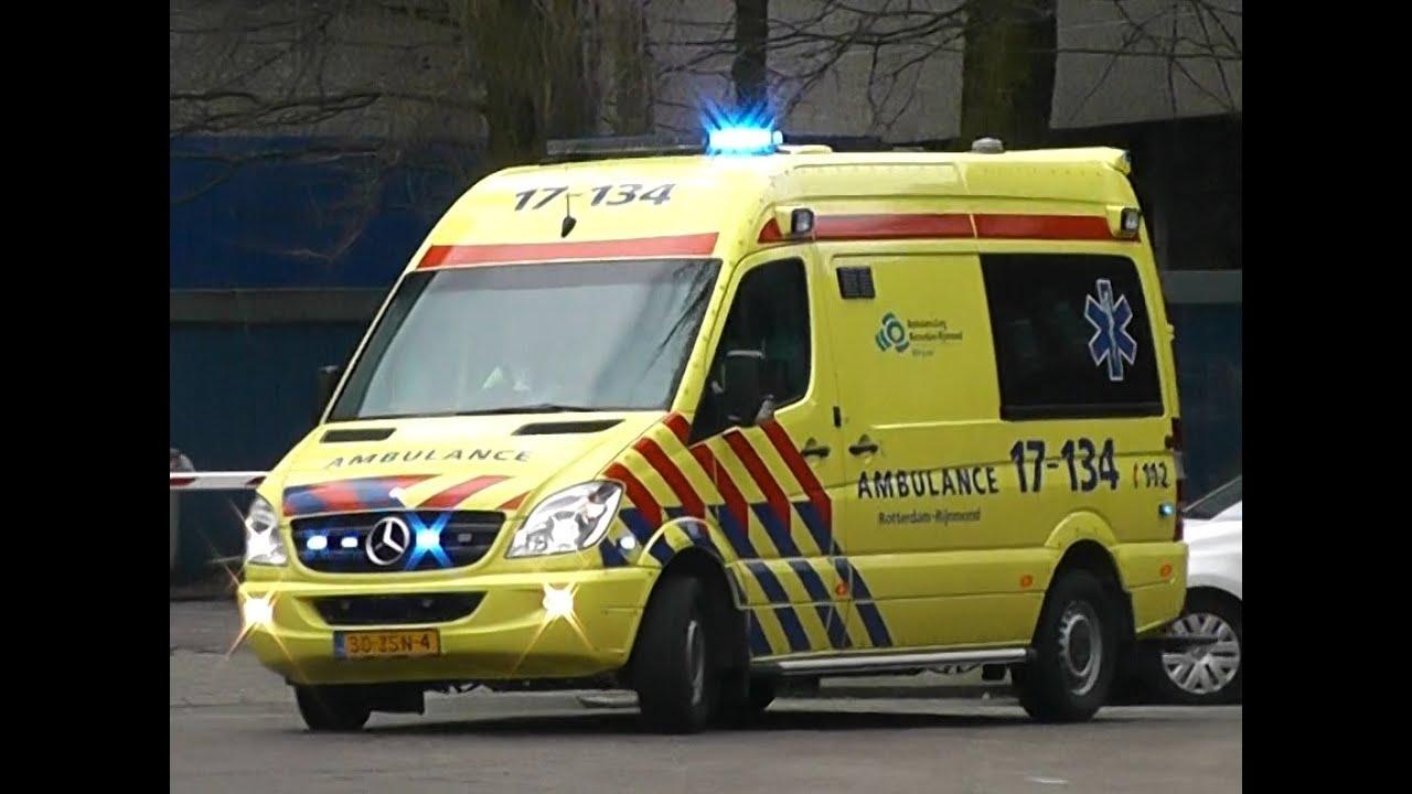Nieuwe ambulance 17 134 spoedmelding rotterdam youtube for Bios rotterdam