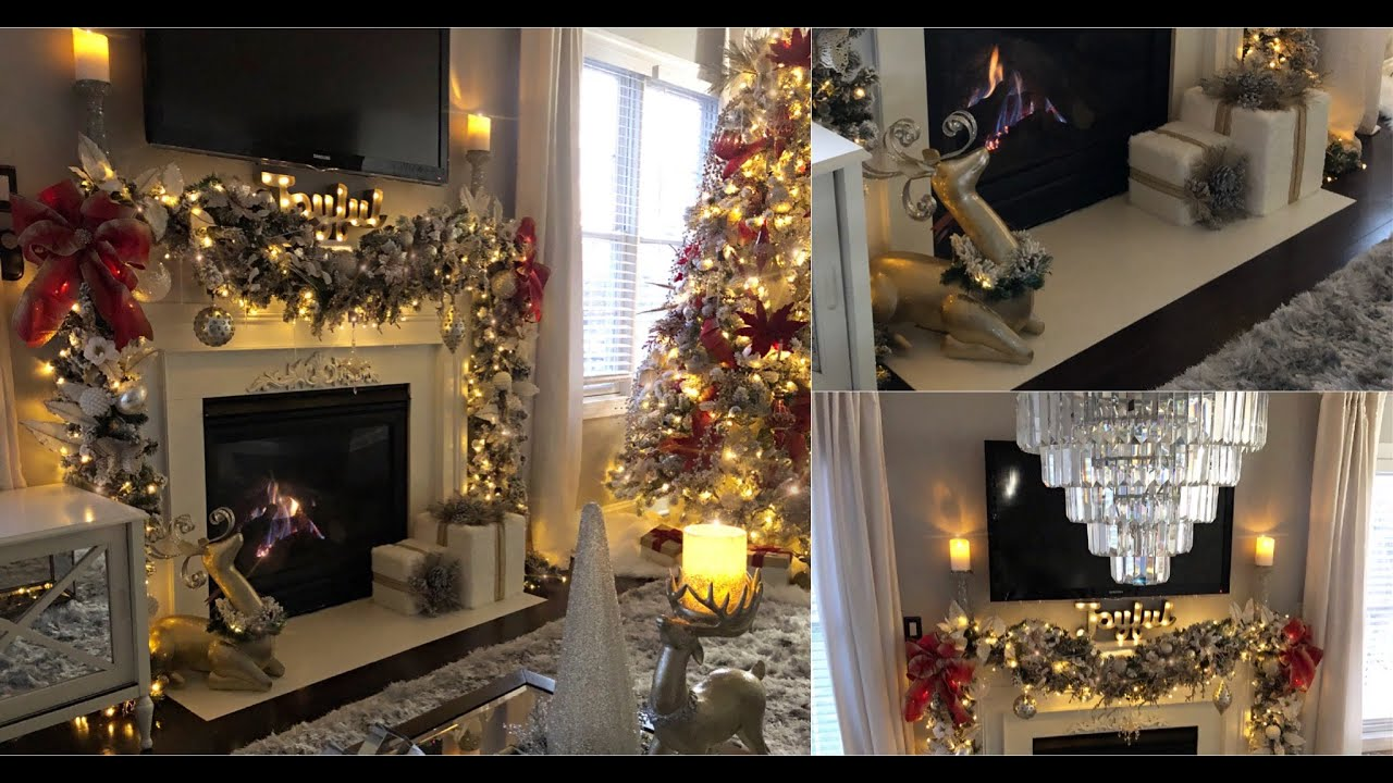 HOW TO DECORATE A MAJESTIC GLAM CHRISTMAS FIREPLACE MANTLE | CHRISTMAS DECOR IDEAS
