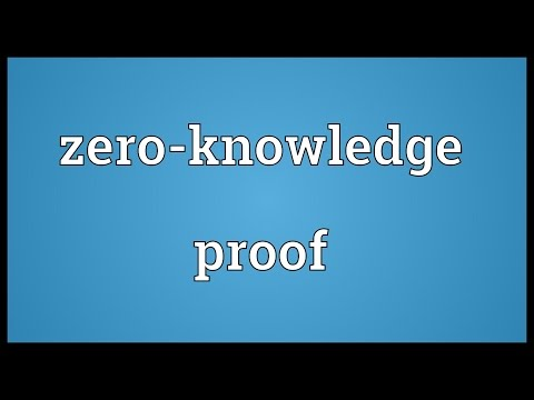 Zero-knowledge proof Meaning