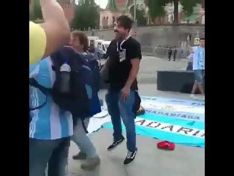 Hinchas argentinos con nuevo