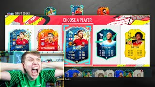 MANCHESTER UNITED SANCHO!! RAREST 198 FUT DRAFT! - FIFA 20