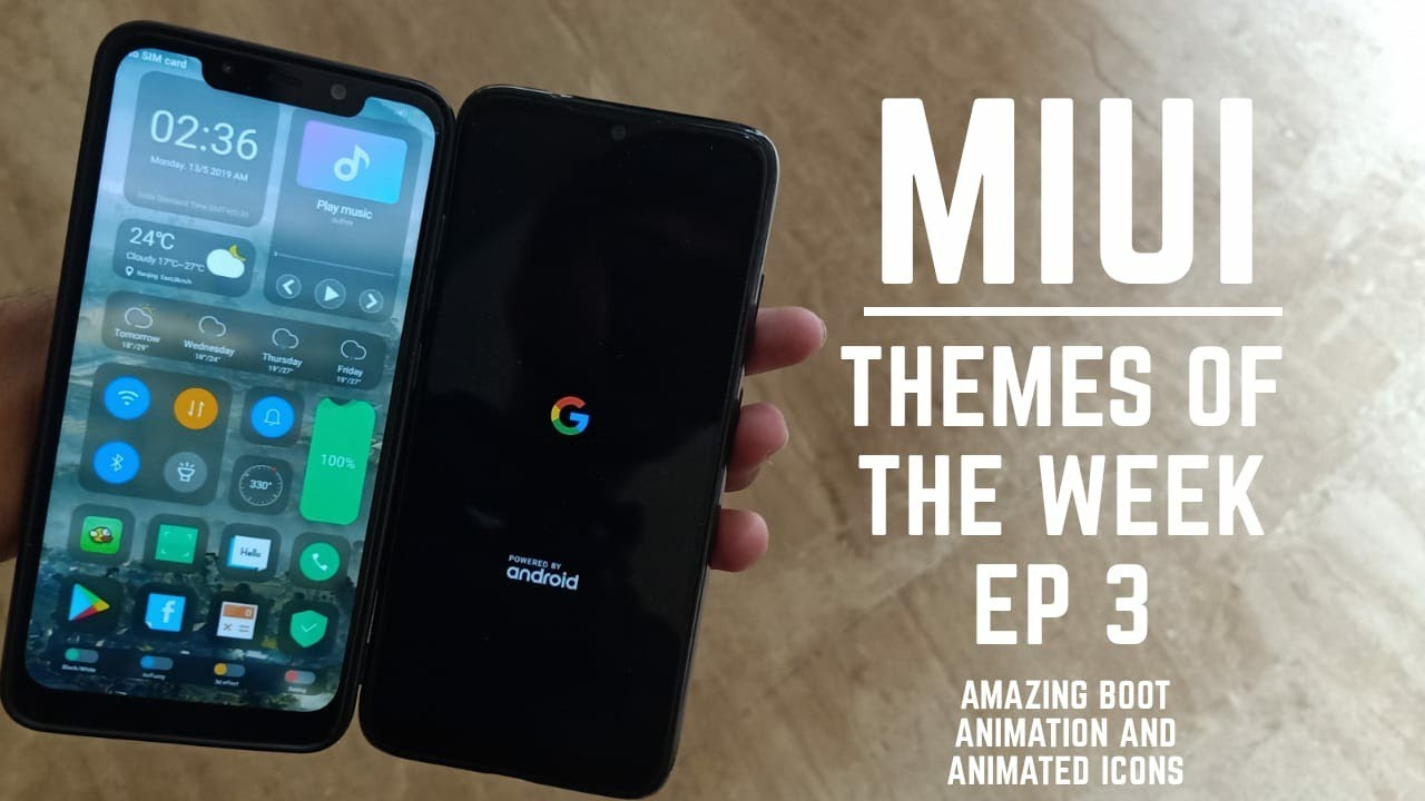 Miui 10 best themes of the week / Pixel boot animation / new status bar /  hindi