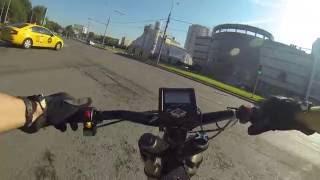 Электровелосипед: Москва, пробки, светофоры, мотор горит