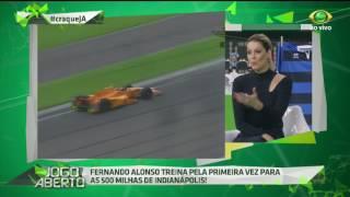 Fernando Alonso treina nas 500 milhas de Indianápolis