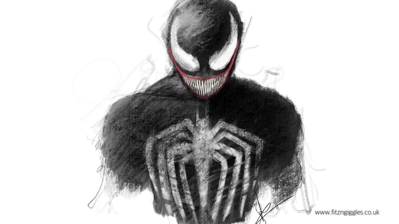 How to draw Venom on i...