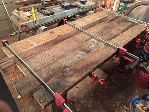 """Reclaimed Wood Dining Table (""""The West Belle"""") Build, Part 2 of 3"""