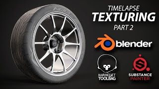 Substance Painter - midpoly wheel texturing timelapse [Part 2]